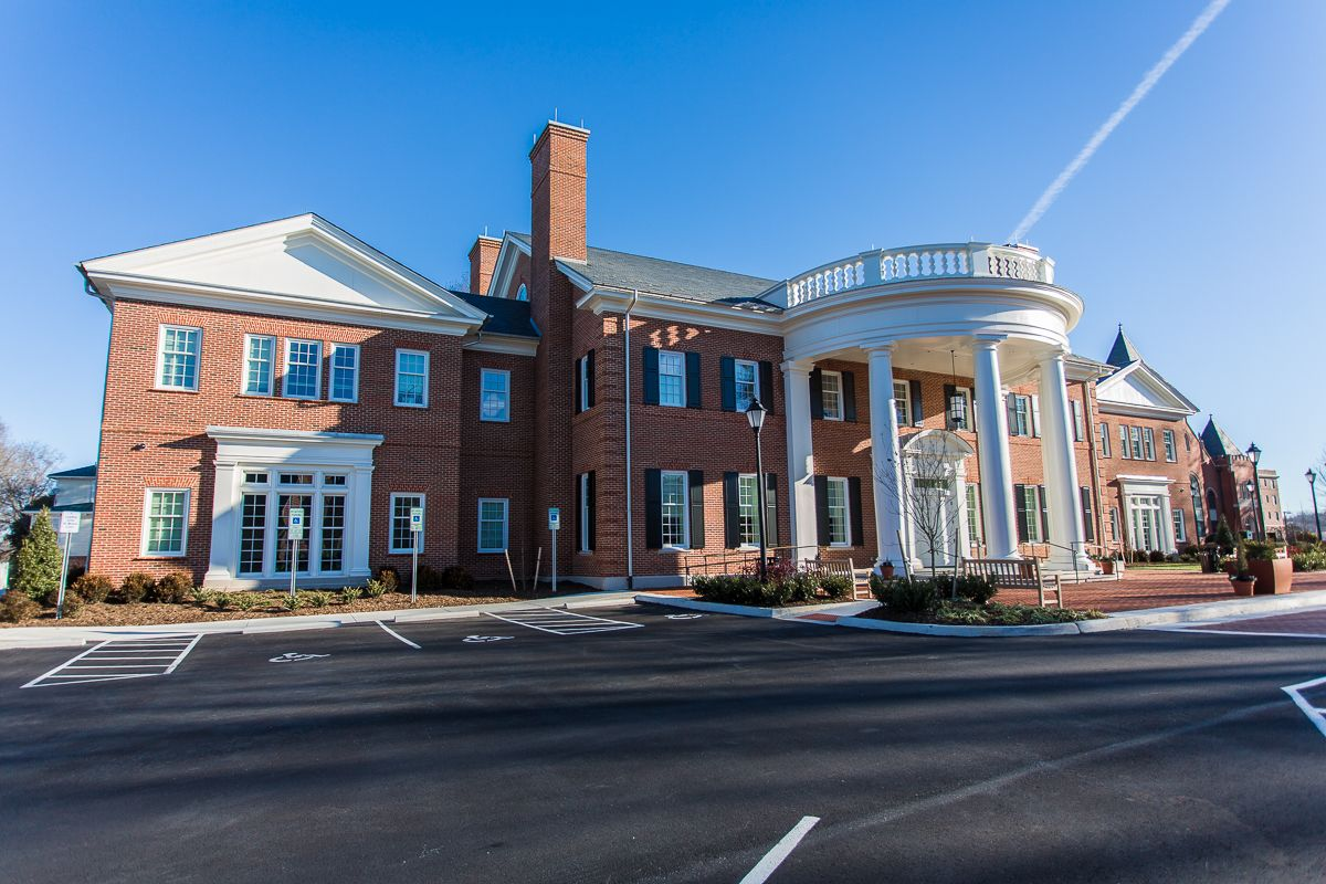Longwood admissions building