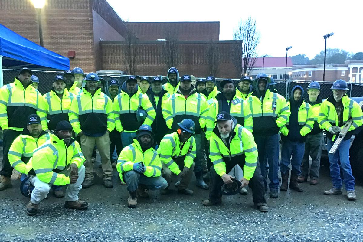 Holman masonry team