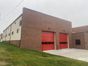 Holman Masonry work for South Boston, VA Fire Department